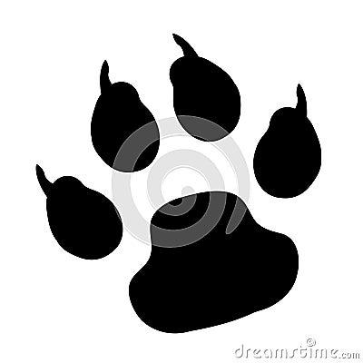 Vector paw print