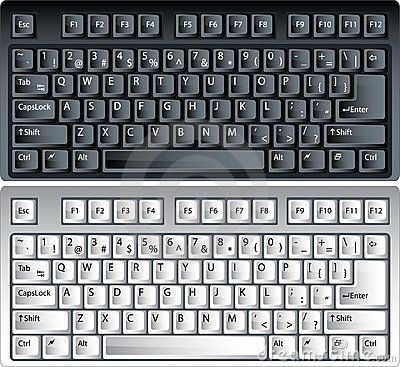 Vector pc keyboards