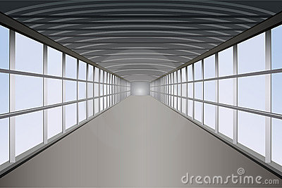 Vector peatonal del túnel