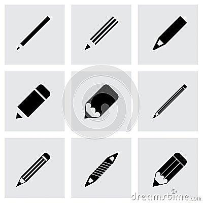 Free Vector Pencil Icon Set Royalty Free Stock Photos - 51232878