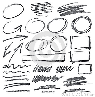 Free Vector Pencil Scribbles Royalty Free Stock Photo - 34385895
