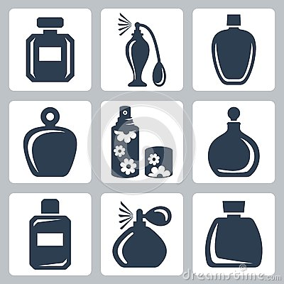 Free Vector Perfume Bottles Icons Set Royalty Free Stock Images - 34987759