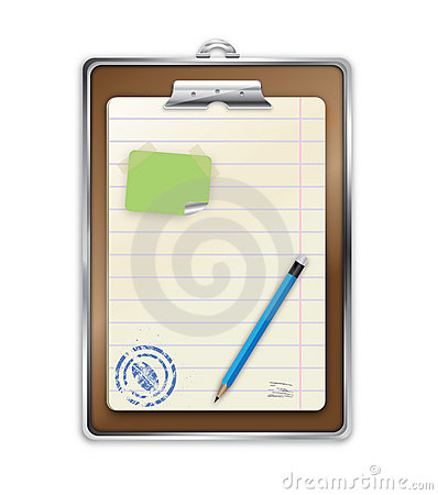 vector personal notepad and pencil