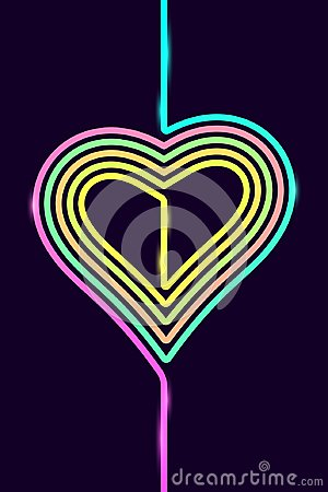 Free Vector Phone Background With Colorful Heart Stock Images - 104116584