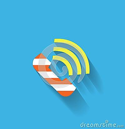 Vector phone flat icon