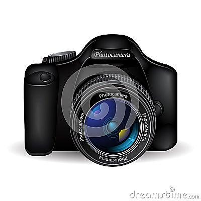 Vector photo camera