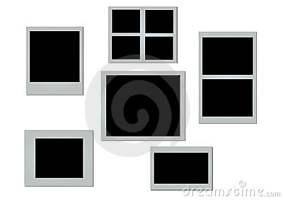 Vector photo frames.