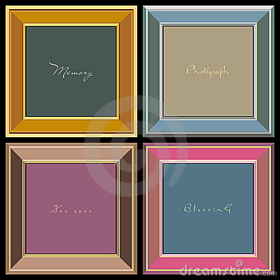 Vector photo frames (vector)