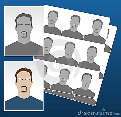 Vector photo icons with faces