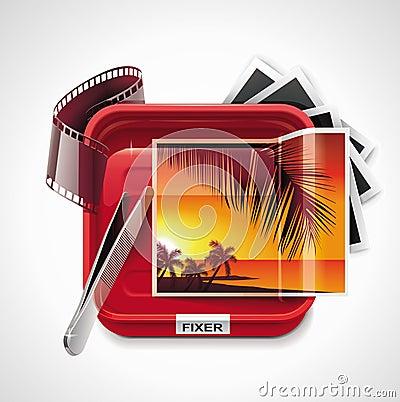Vector photographic processing XXL icon