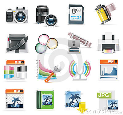 Free Vector Photography Icon Set Stock Photography - 12804202