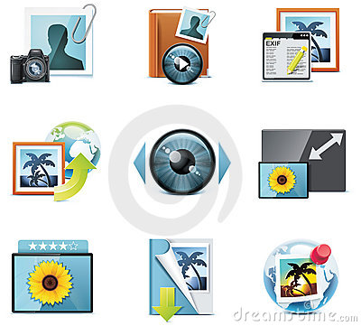 Vector photography icons. Part 4