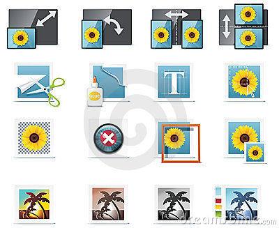 Vector photography icons. Part 5