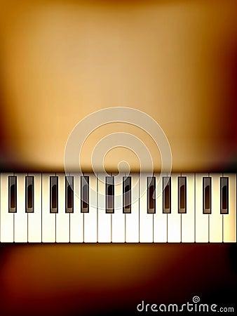Vector piano keyboard illustration