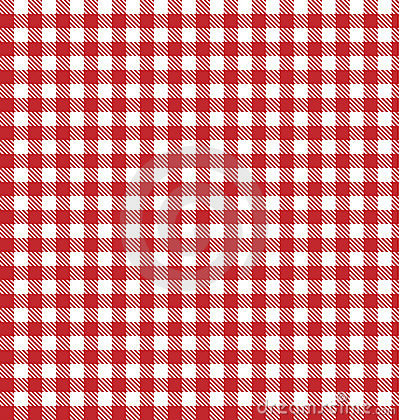 Tablecloth picnic blanket background table cloth vector pattern, red white gingham texture backdrop checkered plaid old art fabric