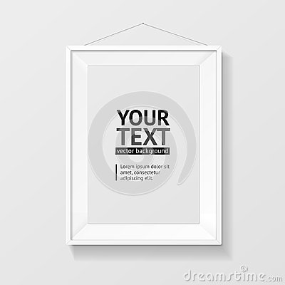 Vector picture frame vector A4 white Vector Illustration