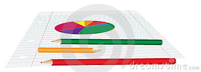 Vector Pie Chart on Paper