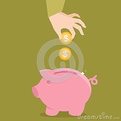 Free Vector Piggy Bank Concept In Flat Style Stock Image - 34853101