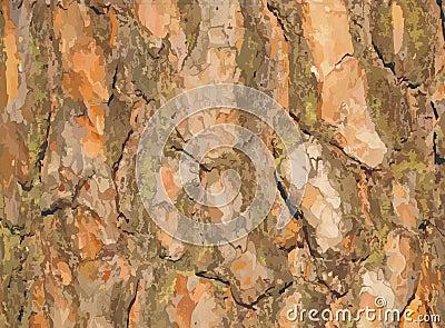 Vector Pine bark