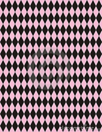 Vector Pink Black Harlequin Background