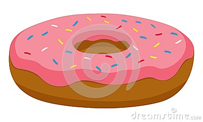 Vector Pink Donut