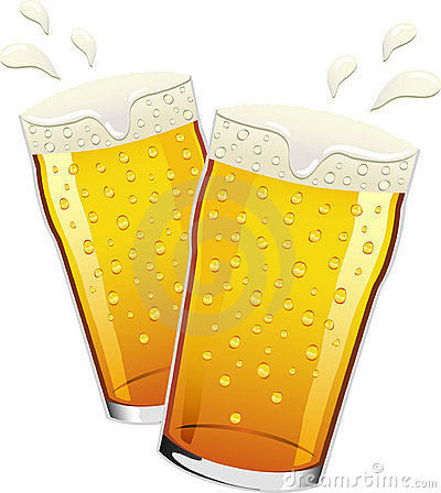 Free Vector Pints Of Beer Toasting Royalty Free Stock Image - 14185396