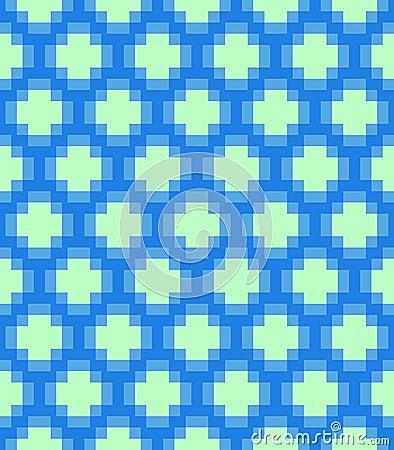 Vector pixel circles seamless pattern