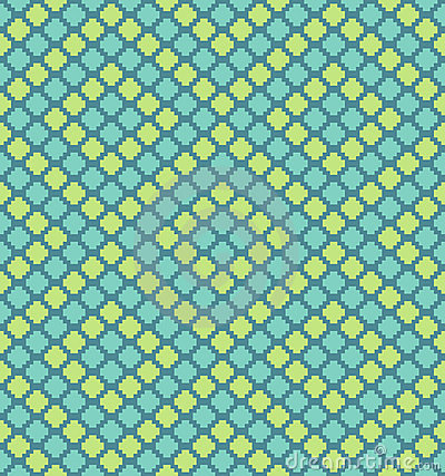 Vector pixel polygons seamless pattern
