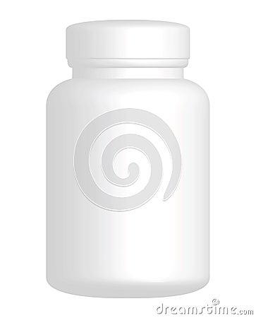 Free Vector Plain White Plastic Bottle Royalty Free Stock Photography - 9652457