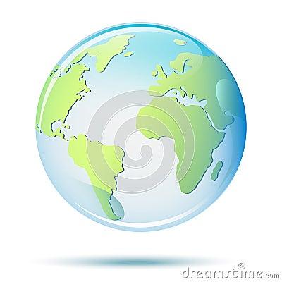 Vector Planet Earth. Realistic illustration Vector Illustration
