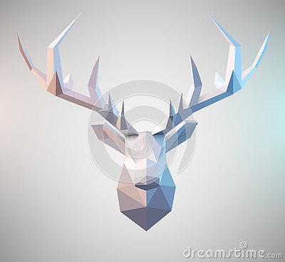 Free Vector Polygonal Stag Stock Photos - 74078133