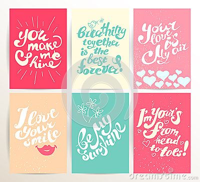 Free Vector Postcard Design Template With Lettering. Stock Photography - 66026092