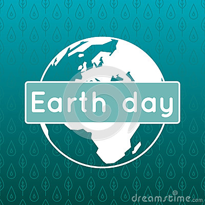 Vector poster for 22 April, Earth Day. Vector Illustration