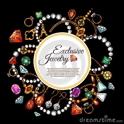 Free Vector Poster Of Jewelry Fashion Accessories Royalty Free Stock Photo - 100131635