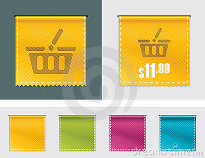 Vector price tag ribbon