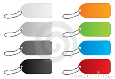 Vector Price Tags in 8 Colors