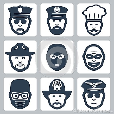 Vector profession/occupation icons set