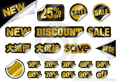 Vector Promotion Sticker