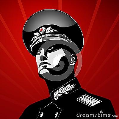 Vector proud soldier