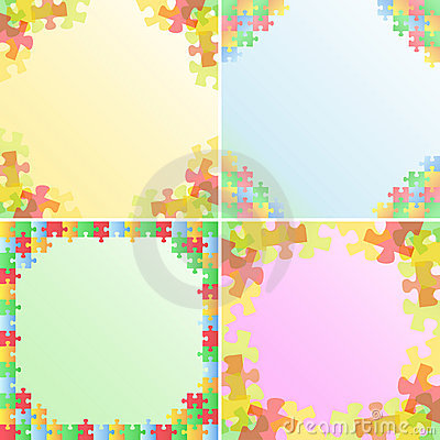 Vector Puzzle Frames