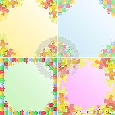Vector Puzzle Frames