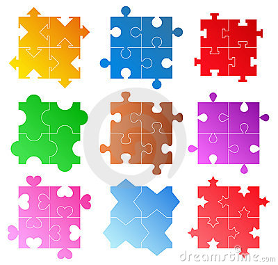 Vector Puzzle Patterns