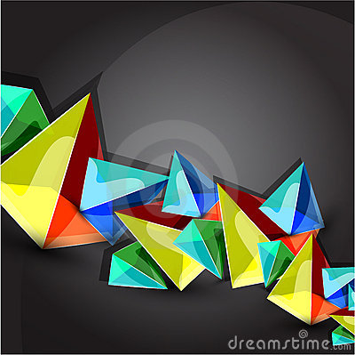 Vector pyramid background