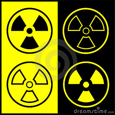 Vector radiation symbol icon