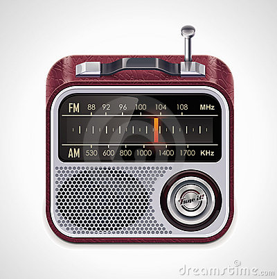 Free Vector Radio XXL Icon Royalty Free Stock Photography - 19949687