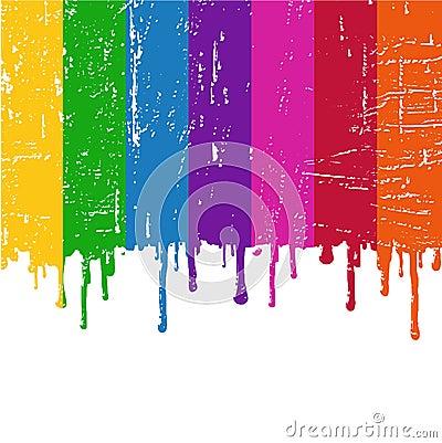 vector Rainbow paint