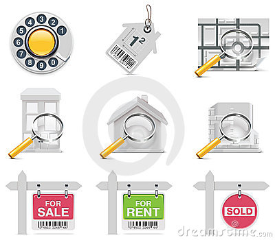 Vector Real Estate Icons. Part 3 Stock Image - Image: 16424191