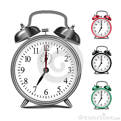 Free Vector Realistic Alarm Clock Template. Royalty Free Stock Photo - 78542815