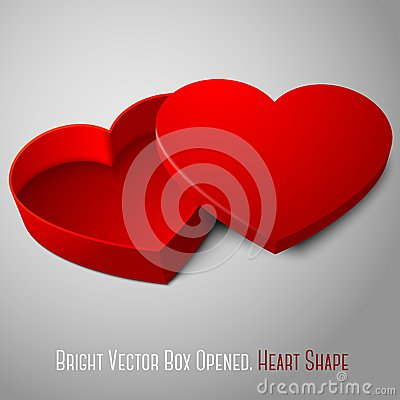 Free Vector Realistic Blank Red Opened Heart Shape Box Stock Photos - 46932293