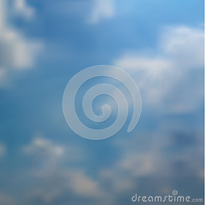 Vector realistic blue sky. Photographic quality vector. Neutral